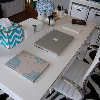 West Elm Parsons Desk, Contemporary, den/library/office