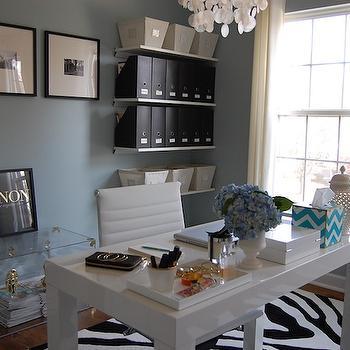 Blue Grey Paint Colors, Contemporary, den/library/office, Benjamin Moore Smoke