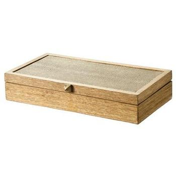 Decorative Storage Box NateBr Wood Beige Rectangle : Target