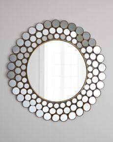 """Mirrored Circles"" Accent Mirror, Horchow"