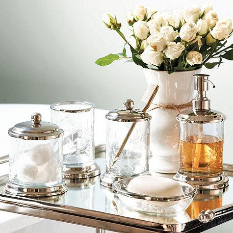 clear glass bathroom accessories. madeleine bath collection - ballard designs clear glass bathroom accessories r