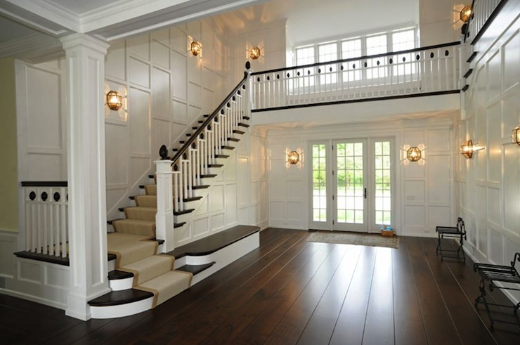 Staircase Millwork Transitional Entrance Foyer