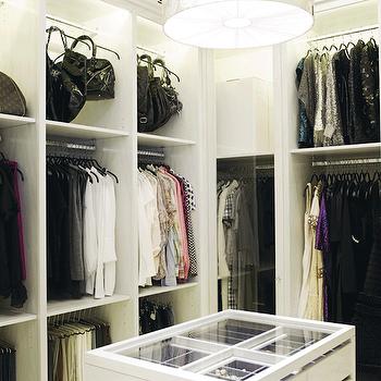 Walk In Closet Island, Contemporary, closet, Practical Princess