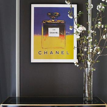 Andy Warhol Chanel, Contemporary, entrance/foyer, Catherine Kwong Design
