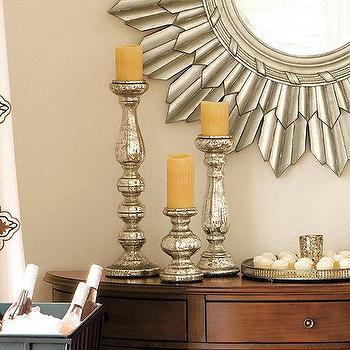 Mercury Glass Candle Holder, Ballard Designs