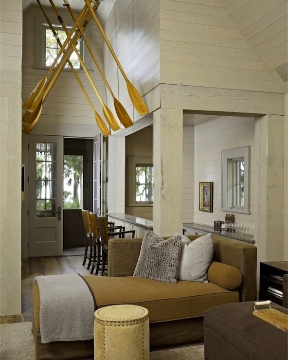 Rustic Lake House Decorating Ideas Rustic Lake House: Ivory Wood Paneling