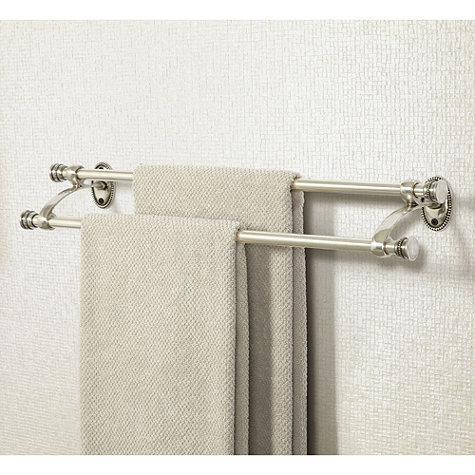 beaded bath double towel bar ballard designs - Double Towel Bar