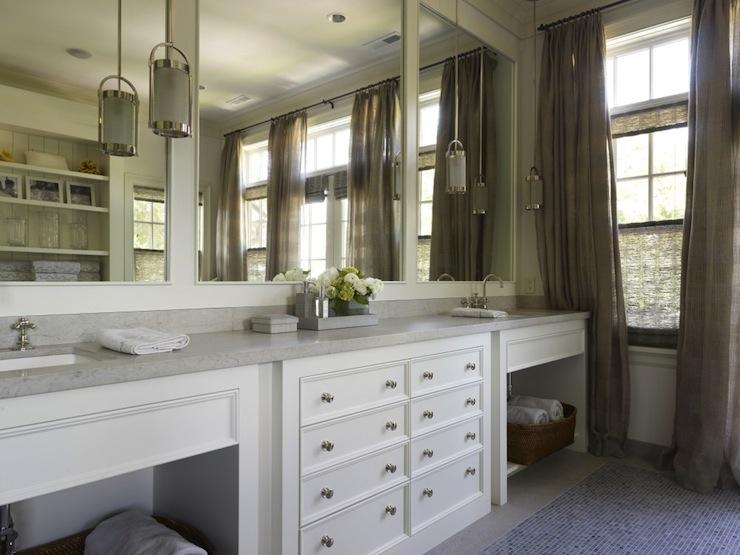 White Double Vanity Cottage Bathroom Hickman Design