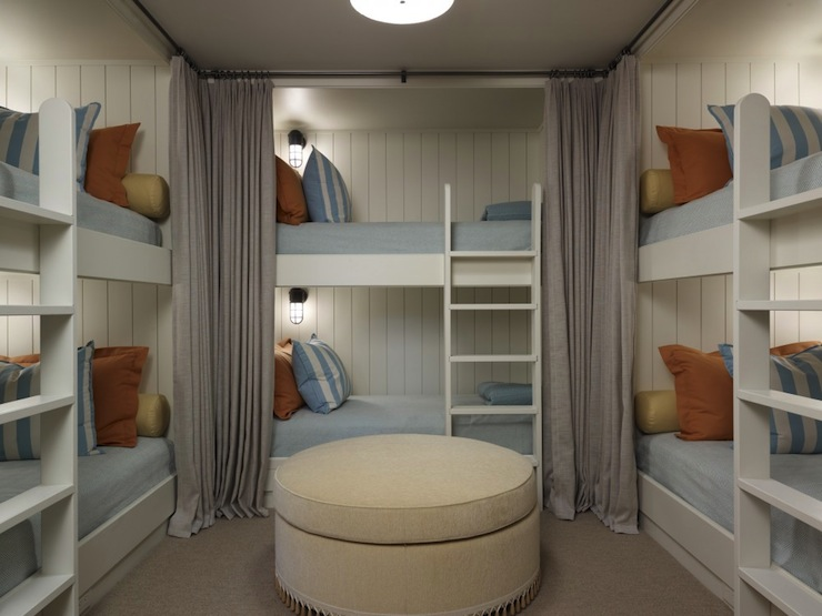 Built In Bunk Beds Cottage Boy S Room Hickman Design