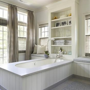 Built In Window Seats, Cottage, bathroom, Hickman Design Associates