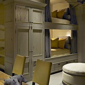 Built In Bunk Beds, Country, boy's room, Hickman Design Associates