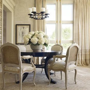 Herringbone Brick Floor, French, dining room, Hickman Design Associates