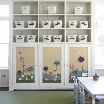 Playroom Storage, Traditional, girl's room, Hickman Design Associates