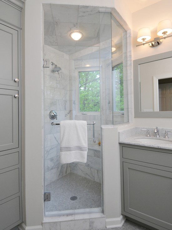 Gray bathroom contemporary bathroom benjamin moore What color to paint bathroom with gray tile