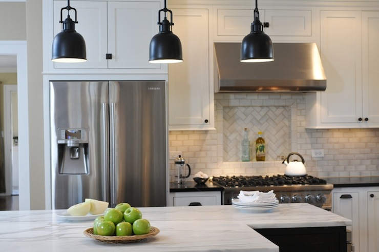 Chevron Kitchen Backsplash Design Ideas