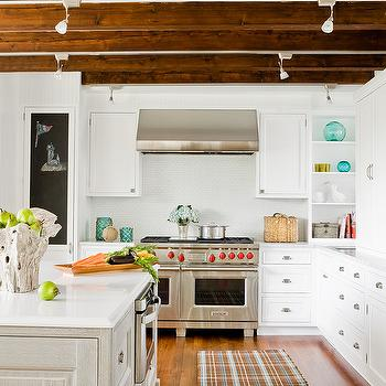 Exposed Wood Beams, Cottage, kitchen, Venegas and Company