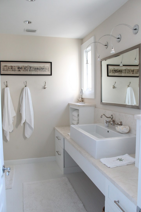 Beachy Bathroom Cottage Bathroom Molly Frey Design