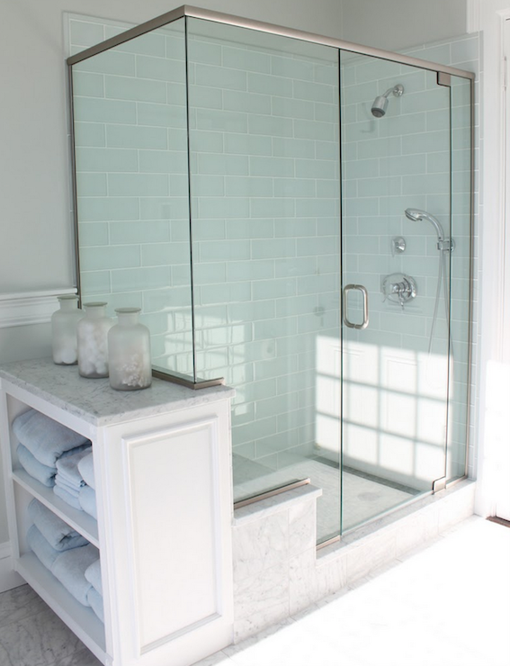 Blue Subway Tile Cottage Bathroom Molly Frey Design