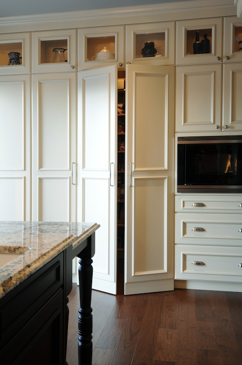 Hidden pantry traditional kitchen corea sotropa for Adding height to kitchen cabinets
