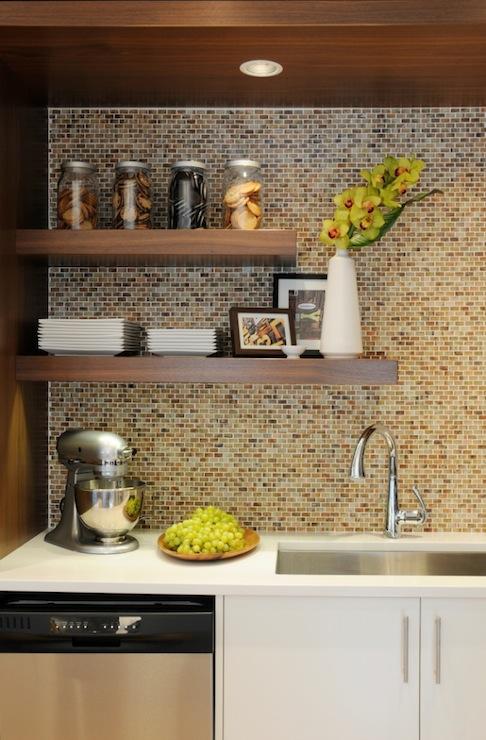 Kitchen Backsplash Shelves mosaic kitchen backsplash design ideas