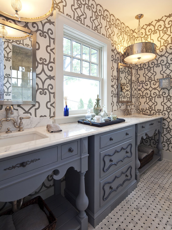 Gray And Blue Bathroom Ideas Eclectic Bathroom
