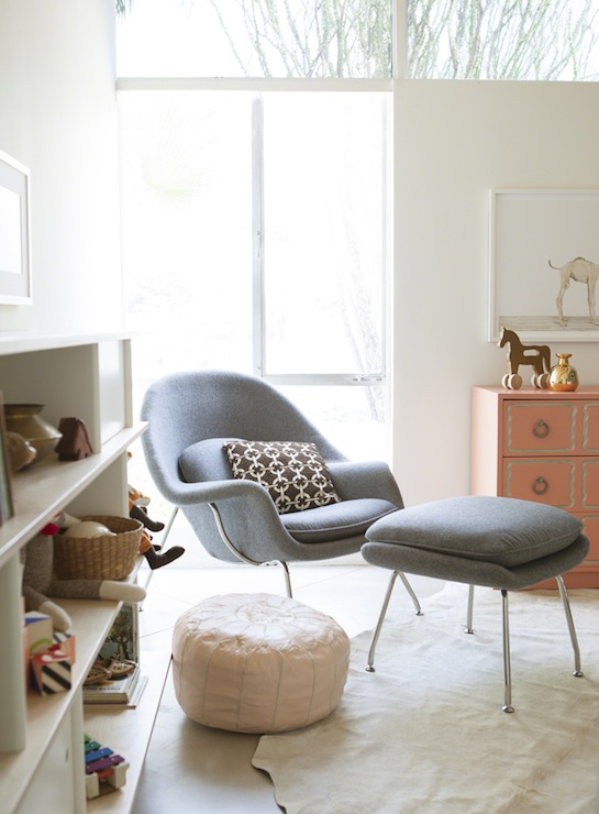 gray womb chair