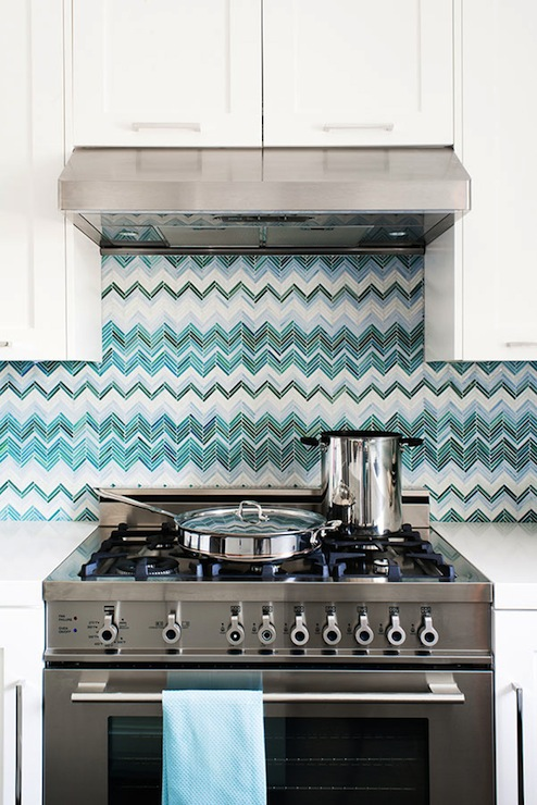 Turquoise Backsplash Contemporary Kitchen Jute Interior Design