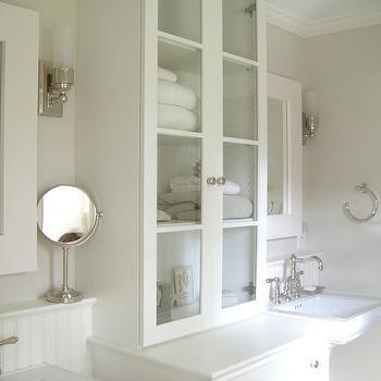 Glass Front Bathroom Cabinets Design Ideas