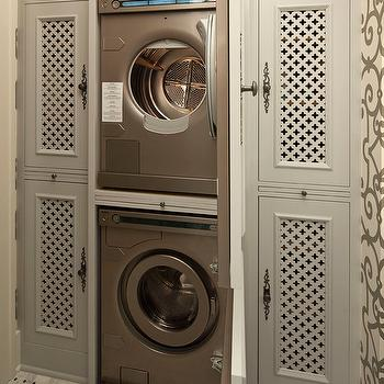 Hidden Washer and Dryer, Transitional, laundry room, Hendel Homes