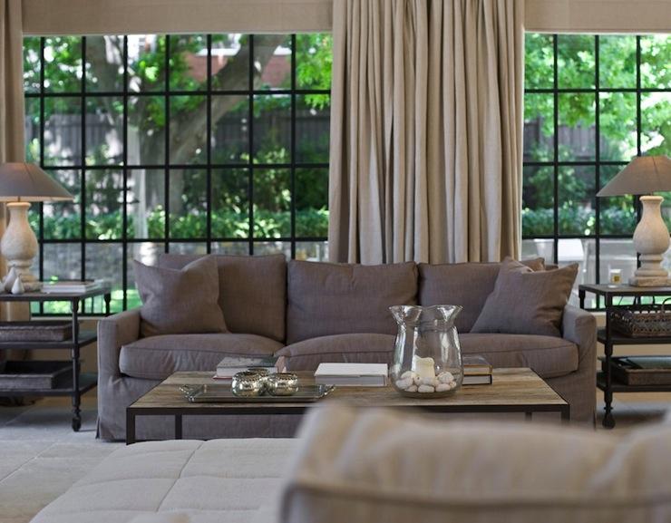 Thomas Paul Dahlia Slate Transitional Living Room