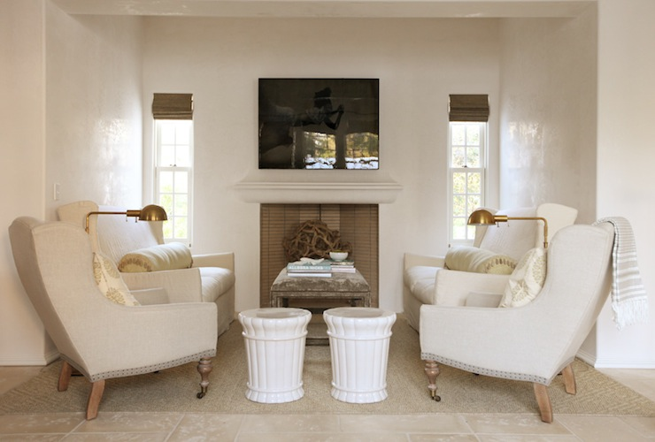 Ivory Wall Paint Cottage Living Room Pratt And