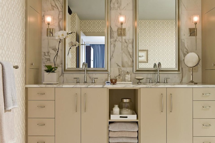 Tan bathroom cabinets contemporary bathroom elms for Bathroom ideas tan