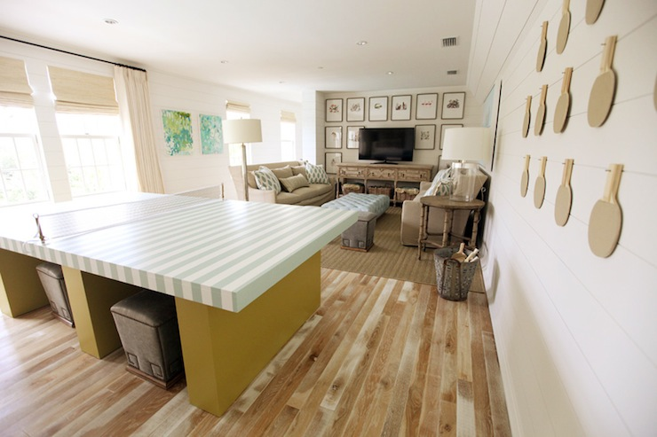 Striped Ping Pong Table Design Ideas