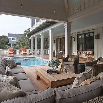 Covered Deck, Cottage, deck/patio, Herlong & Associates