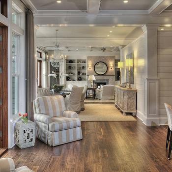 Open Floor Plan Design, Cottage, dining room, Herlong & Associates