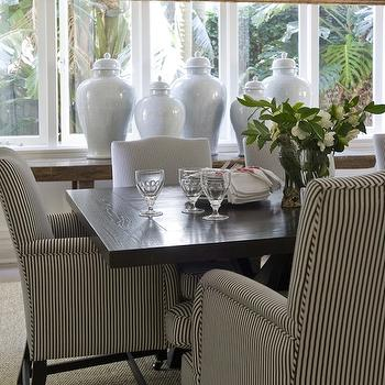 Black and White Striped Chair, Traditional, dining room, Marco Meneguzzi