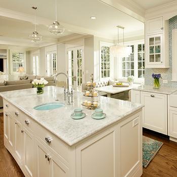 White Princess Quartzite, Contemporary, kitchen, Harry Braswell Inc