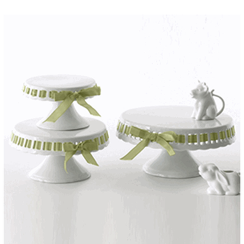 Ribbon Cake Stand Set by Two's Company, Organize.com