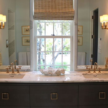 Gray Bathroom Cabinets, Contemporary, bathroom, The Painted House