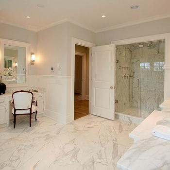Calcutta Marble Master Bathroom, Traditional, bathroom, Milton Development