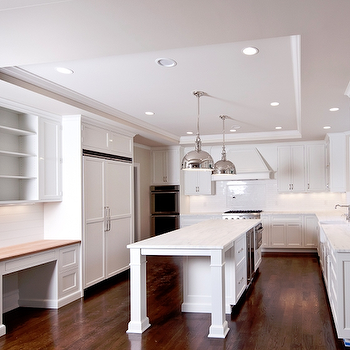Tray ceiling recessed lighting design ideas white kitchen mozeypictures Images