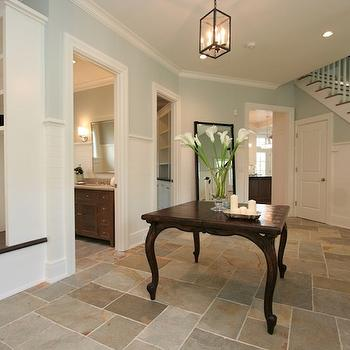flagstone tile floor - Foyer Tile Design Ideas
