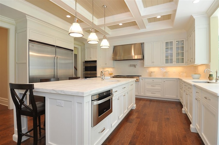 Coffered Ceiling Kitchen Traditional Kitchen Jillian