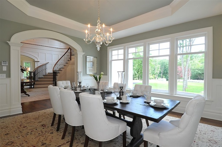Perfect Octagonal Tray Ceiling - Traditional - dining room - Jillian Klaff  MF92