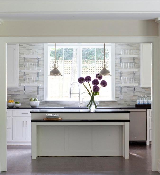 Mosaic Linear Tile Backsplash Contemporary Kitchen Milton