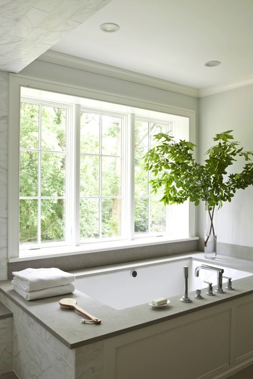 Drop In Tub Ideas Transitional Bathroom Milton