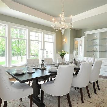 Octagonal Recessed Ceiling, Traditional, dining room, Jillian Klaff Homes