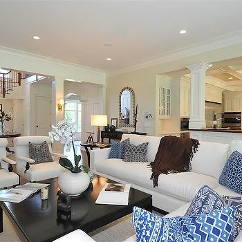 Open Floor Plan, Traditional, living room, Jillian Klaff Homes