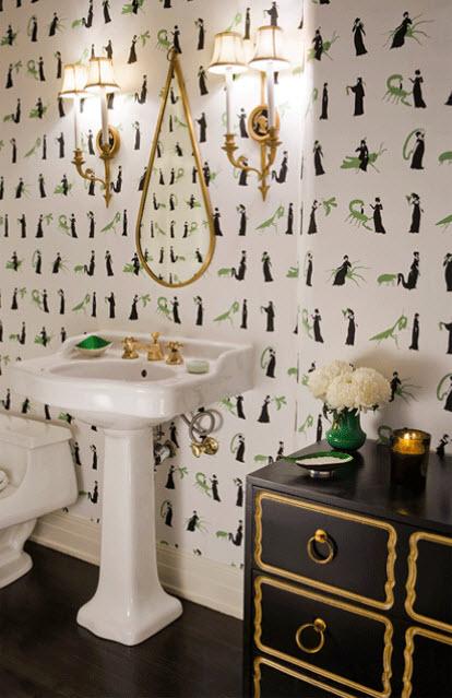 Dorothy Draper Chest Hollywood Regency Bathroom Abby Wolf Weiss Interiors