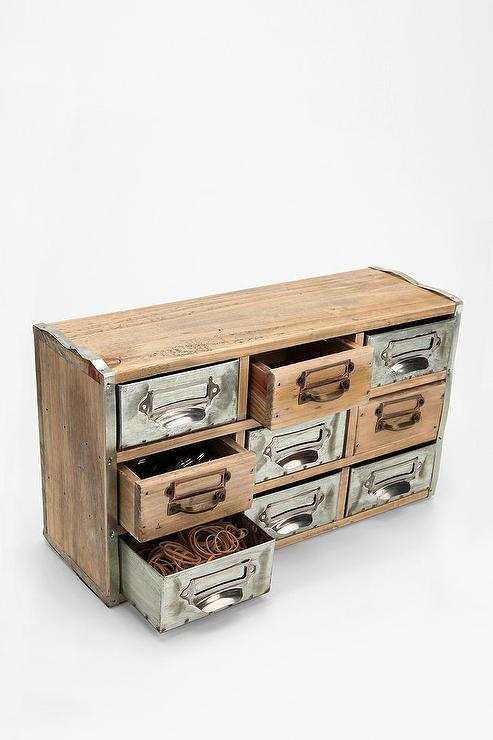 Reclaimed Card Catalog Organizer Cabinet Urban Outfitters